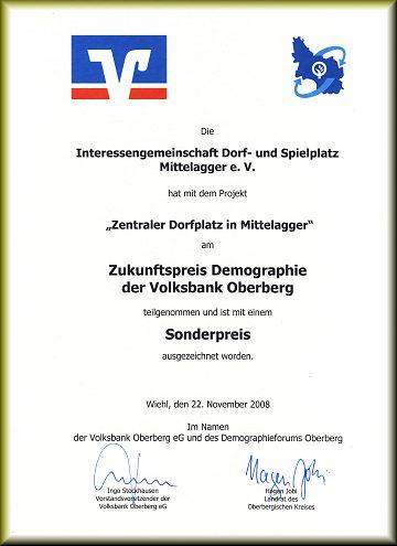 Zukunftspreis Demographie Oberberg